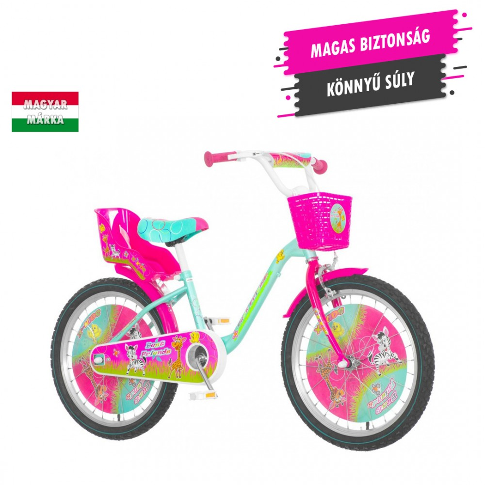 KPC Best Friends 20 állatos gyerek kerékpár HAJMERESZTŐ ÁRON ... 599f6cd2c4
