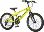 Venssini Dino Land 20 gyerek kerékpár Neonzöld