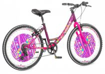 Visitor Fox 24 gyerek kerékpár HAJMERESZTŐ ÁRON Lila-Rózsaszín