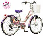 Visitor Malibu 24 gyerek városi kerékpár Fehér