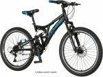Explorer Thunder 24 gyerek összteleszkópos V-fékes MTB kerékpár Fekete
