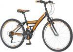 Venssini Parma 24 gyerek kerékpár '18  Fekete-Narancs