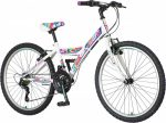 Venssini Parma 24 gyerek kerékpár Fehér