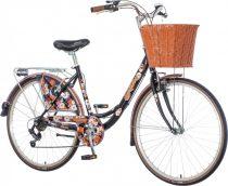 Visitor Mariama virágos városi kerékpár LEGJOBB AJÁNLAT fekete
