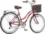 Visitor Deepwater virágos női cruiser kerékpár  piros