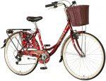 Visitor Mauves városi kerékpár Bordó