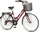 Explorer Spring városi kerékpár Bordó