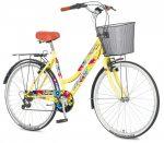 Explorer Summer kontrás városi kerékpár sárga