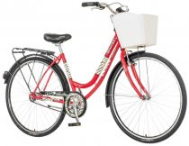 Visitor Lowland női városi kerékpár piros