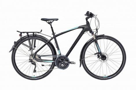 Gepida Alboin 700 trekking kerékpár Fekete