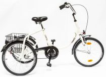 Schwinn Csepel Camping három kerekű kontrás kerékpár Krém