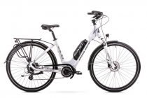 Romet ERC 101 Lady elektromos trekking kerékpár Fehér