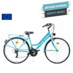 """Capriolo Velence női trekking kerékpár 18"""" Világoskék"""