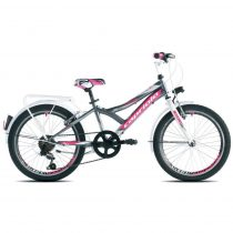 """Capriolo Diavolo 200 City 20"""" gyerek kerékpár Grafit-Rózsaszín"""