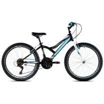 """Capriolo Diavolo 400 24"""" gyerek kerékpár Fekete-Kék"""