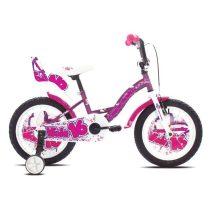 """Capriolo Viola 16"""" gyerek kerékpár Lila"""