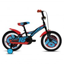 Capriolo Mustang 16 gyermek kerékpár fekete-kék