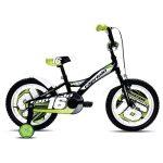 """Capriolo Mustang 16"""" gyerek kerékpár Fekete-Fehér-Zöld"""