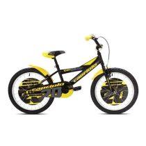 """Capriolo Mustang 20"""" gyerek kerékpár Fekete-Sárga"""