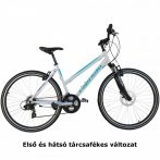 Capriolo X-Rider alumínium női crosstrekking kerékpár 52cm Fehér-Menta Tárcsafékes