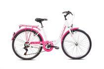 """Capriolo Ella 24"""" gyerek kerékpár Fehér"""