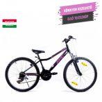 KPC Roxie 24 teleszkópos gyerek kerékpár Fekete-Rózsaszín
