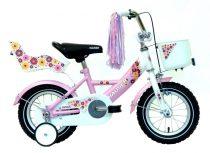 Hauser Swan 12 gyermek kerékpár Fehér-Rózsaszín