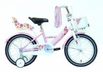 Hauser Swan 16 gyermek kerékpár Fehér-Rózsaszín