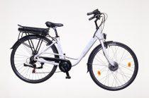 """Neuzer E-Trekking női 18"""" pedelec kerékpár Fehér"""