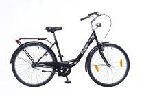 Neuzer Balaton 28 3 seb. városi kerékpár Fekete
