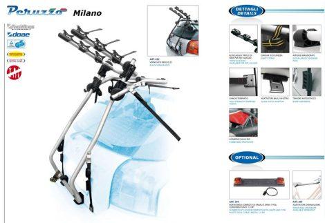 Peruzzo Milano 3 kerékpárszállító