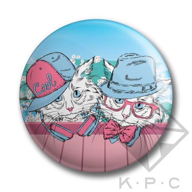 KPC Snow Kitty 03 kitűző - Kerékpárwebshop.eu Kerékpár Webáruház 7242e0ec28