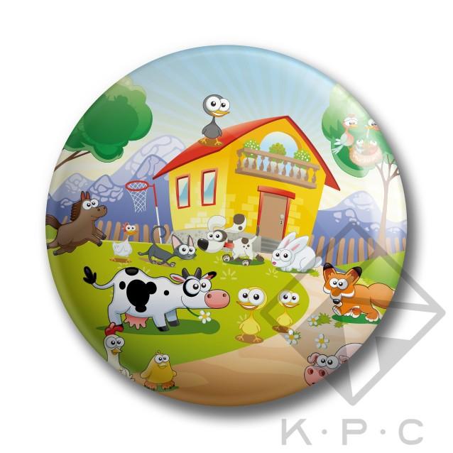KPC My Little Farm 03 kitűző - Kerékpárwebshop.eu Kerékpár Webáruház e1998fbbae