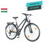 KPC Terra Lady női trekking kerékpár Fekete-Menta 1280113
