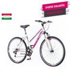 KPC Smart női crosstrekking kerékpár Fehér-Lila