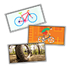 Kerékpáros ajándék hűtőmágnes karácsonyra, szülinapra vagy bármilyen alkalomra.