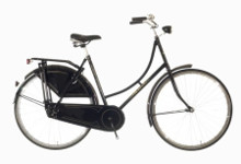 Női kerékpár szoknyavédővel