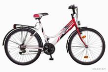 Piros női kerékpár