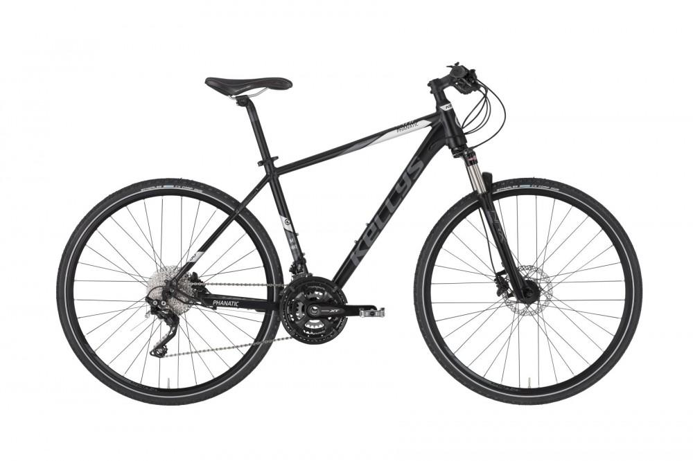 Kellys Phanatic 90 férfi crosstrekking kerékpár Fekete