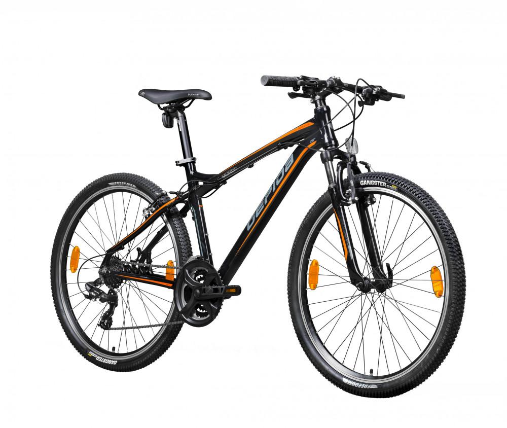 """Gepida Mundo férfi MTB kerékpár 21"""" Fekete-Grafit-Narancs"""
